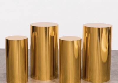 Gold Round Plinths ~ $45-$65