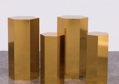Hexagon Gold Pedestal ~ $45-$65