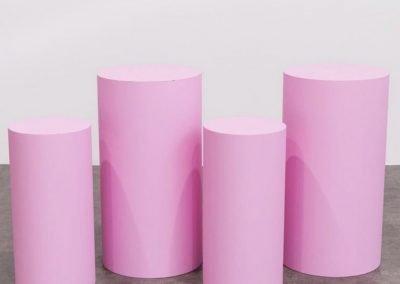 Round Pink Plinths ~ $45- $65