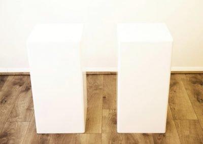 White Column Pedestal ~ $45- $65
